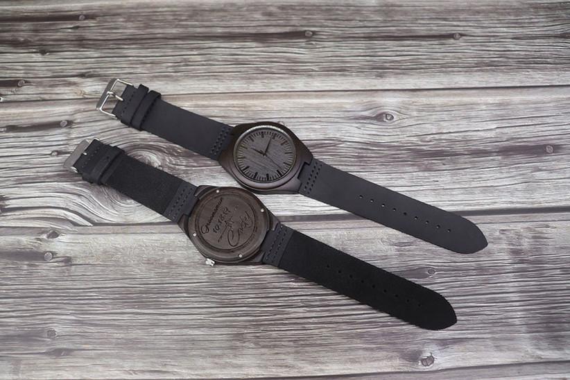 Engraved groomsmen gift watch