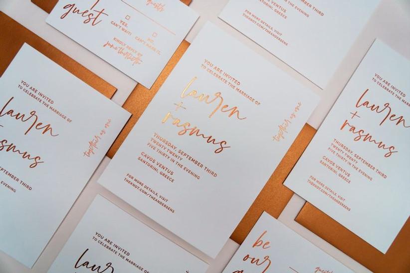 2021 wedding invitation trends minimalism