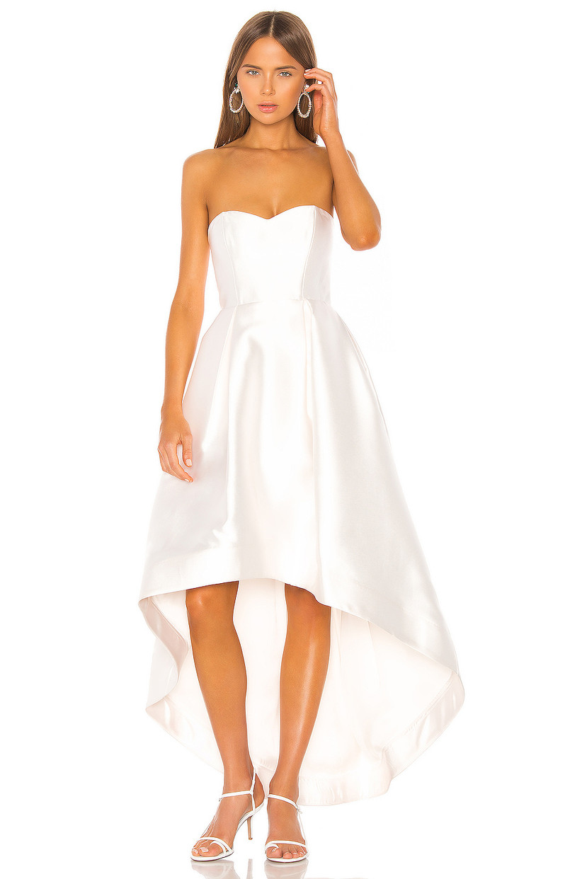high-low courthouse wedding dress