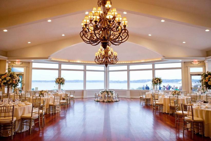 indoor ballroom overlooking ocean