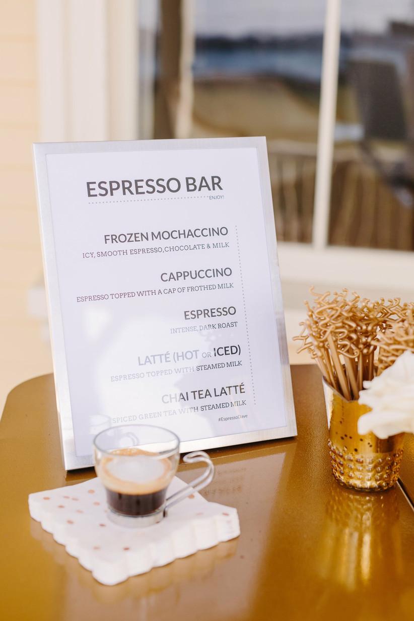 espresso bar sign