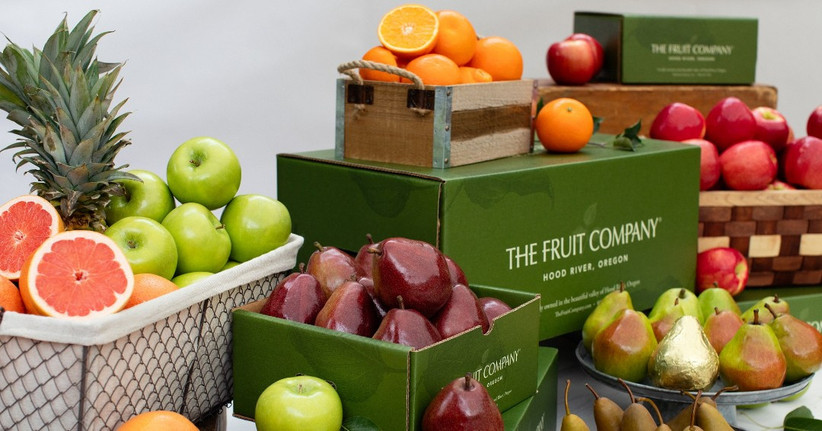 The Fruit Company boxes filled with fresh fruit