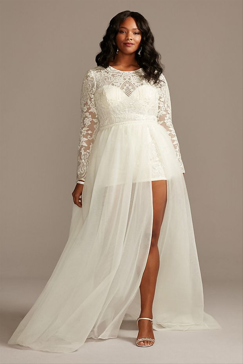 25 Courthouse Wedding Dresses For Your Civil Ceremony Weddingwire,Steven Khalil Mermaid Wedding Dress