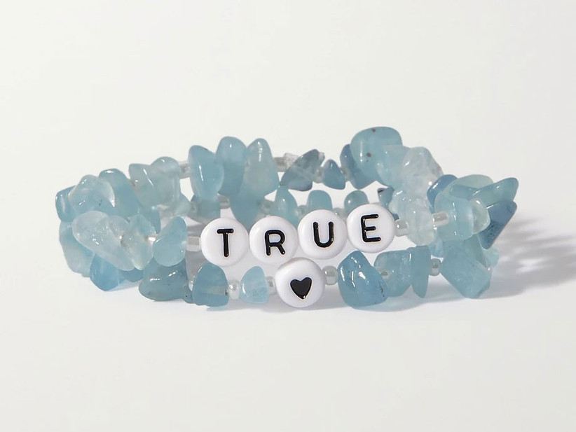 Aquamarine bracelets 19th anniversary gemstone gift