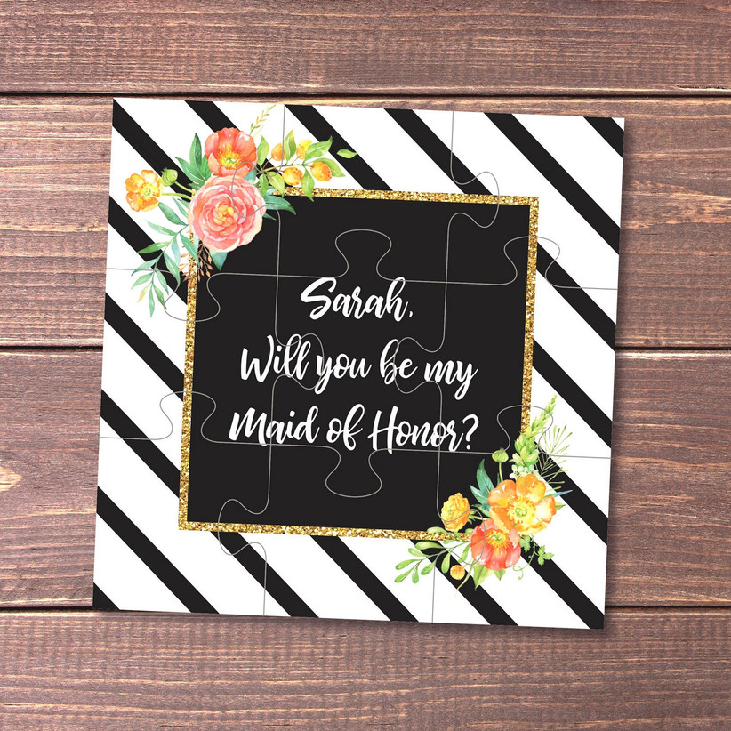 Will You Be My Maid of Honor puzzle