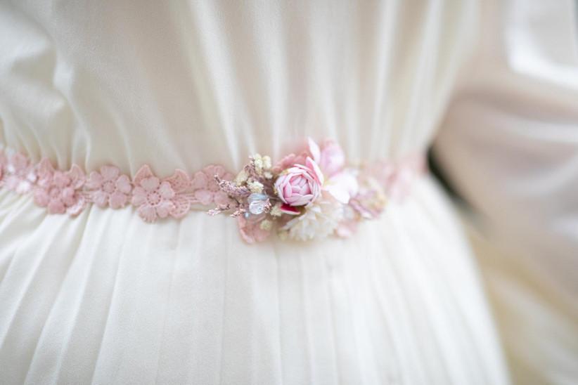 pink floral sash