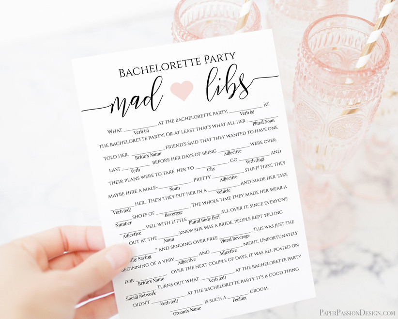 mad-libs game sheet with fill-in-the-blank spaces