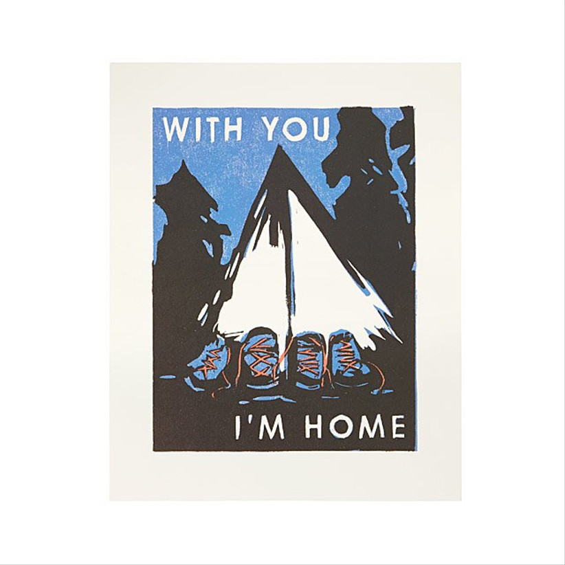 poster that reads with you i'm home