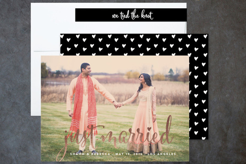 aglow wedding announcement