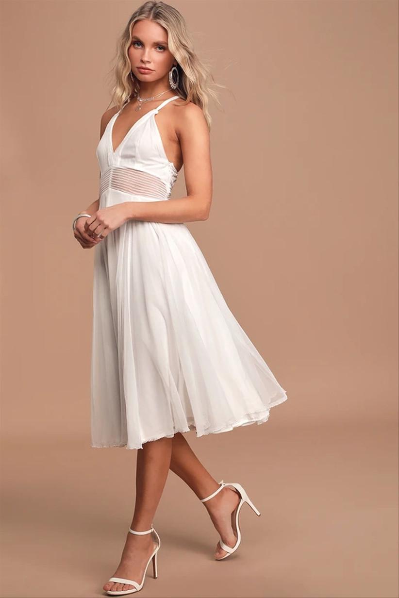 midi courthouse wedding dress