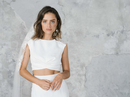31 Minimalist Wedding Dresses That Make a Serious Under-Statement