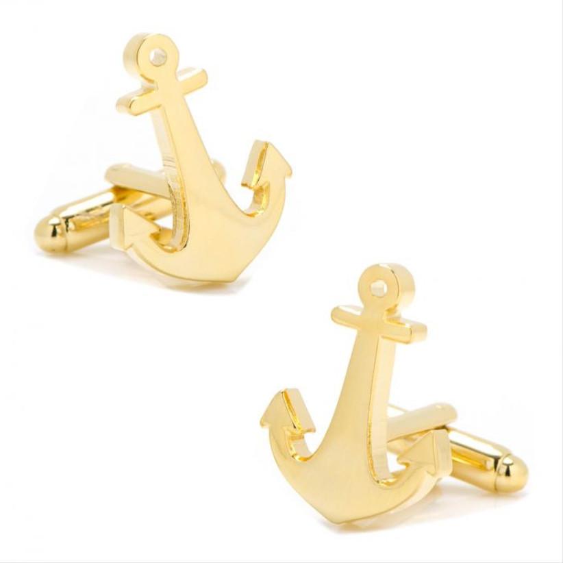 cufflinks.com gold anchor cufflinks for 14th year wedding anniversary gift