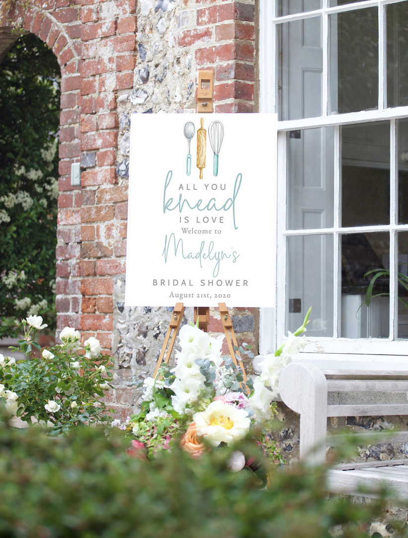 all you knead is love bridal shower sign