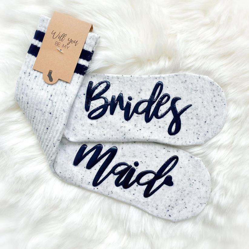 Bridesmaid proposal socks