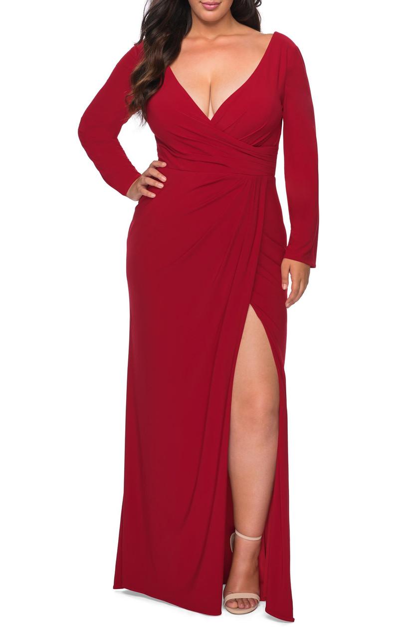 Floor length red V-Neck dress Nordstrom