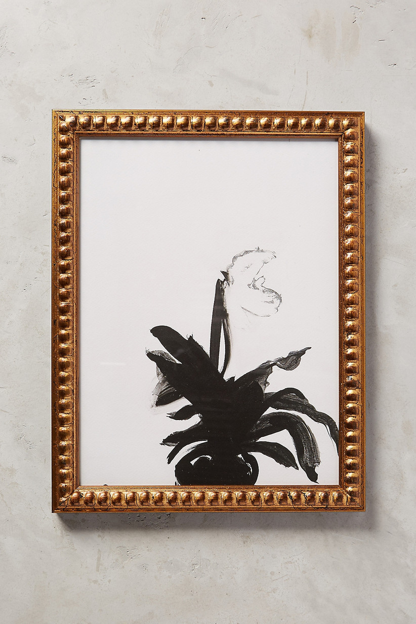 Orchid wall art 60th anniversary flower gift