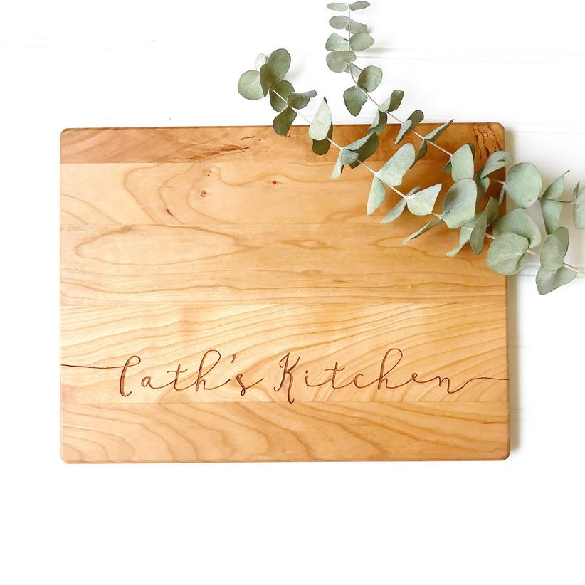 Engraved cutting board stepmom gift
