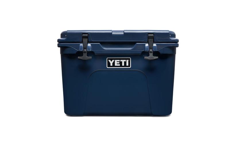 Blue YETI cooler 45th anniversary gift idea