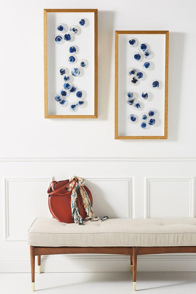 Sapphire wall art 45th anniversary gift
