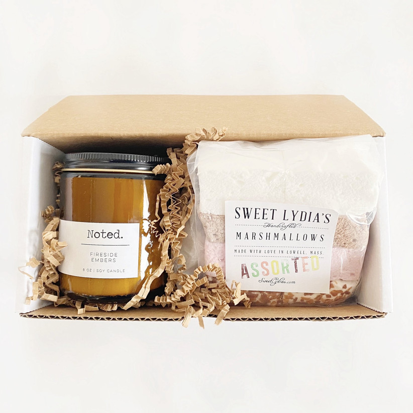 Candle and marshmallow gift set for sister-in-law