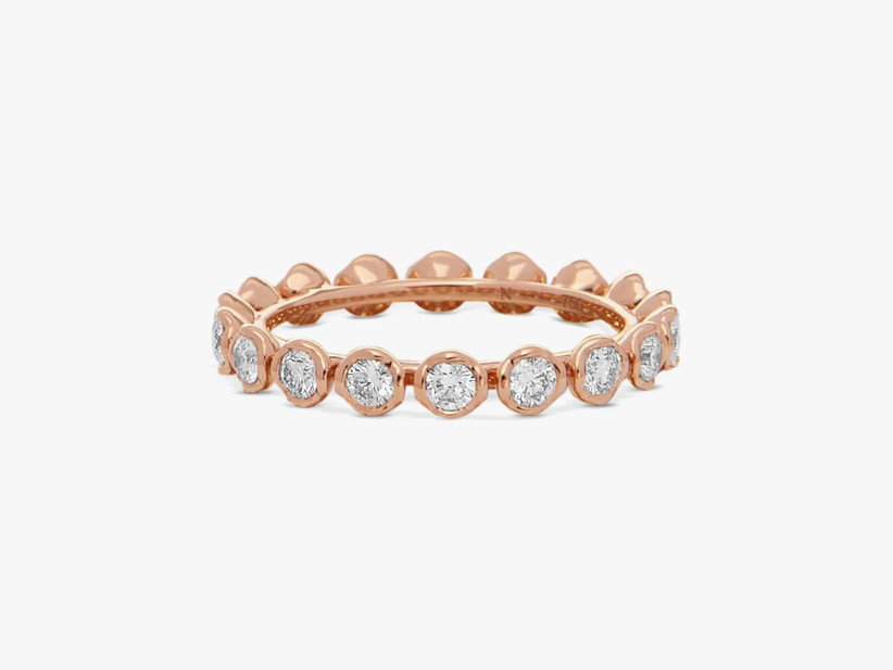 Diamond and rose gold eternity ring 45th anniversary gift