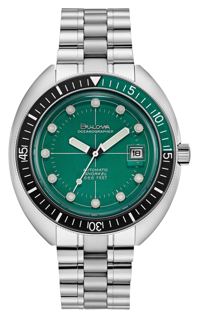 Watch with green face 55th anniversary gift idea