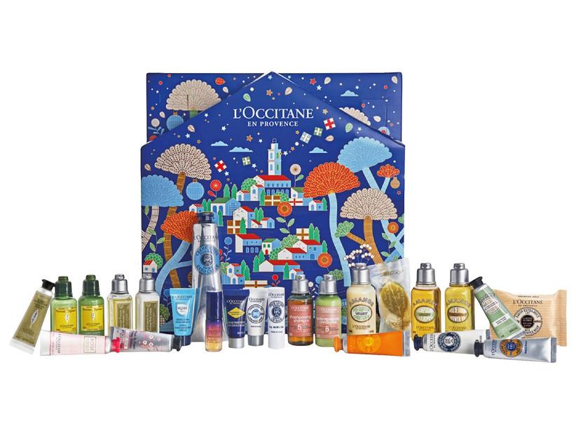 L'Occitane Advent calendar showing all contents