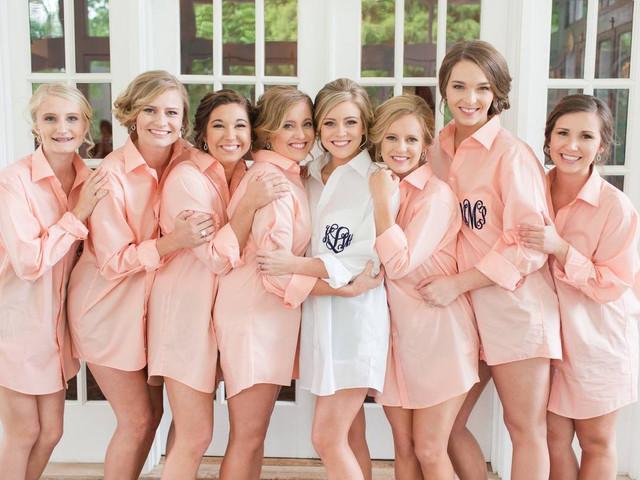 Monogrammed Oxford Shirt Set Button Down Shirts Set of 6 Embroidered Bridesmaid Shirts Monogrammed Bridal Party Shirt Set