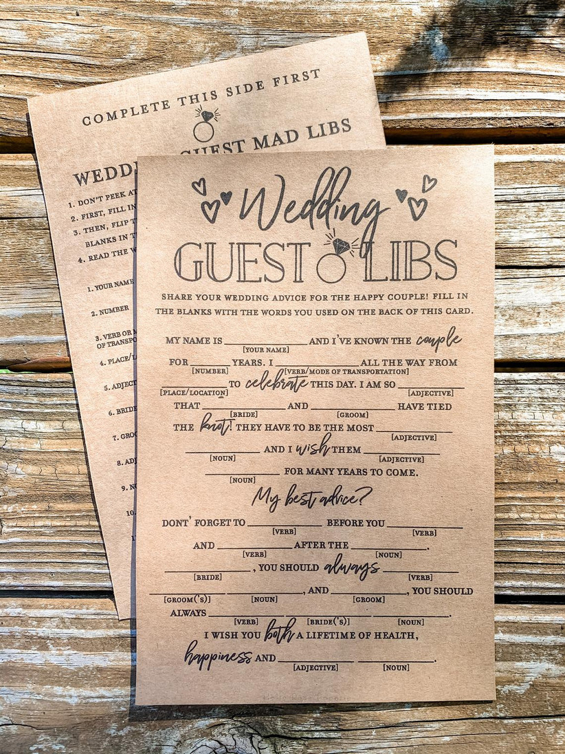 wedding guest libs printable template