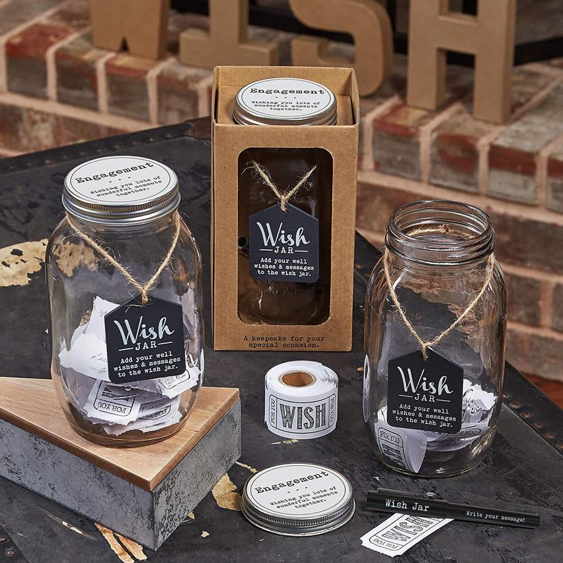 Engagement wish jar decoration idea