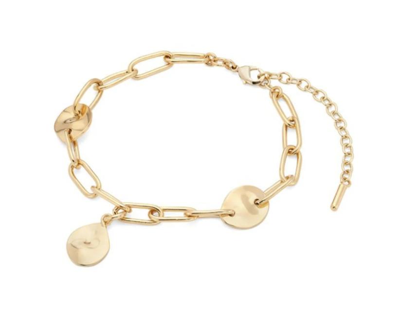 soko gold charm bracelet for 14th year wedding anniversary gift