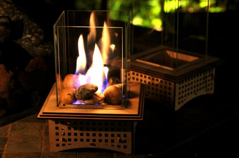square tabletop fireplace