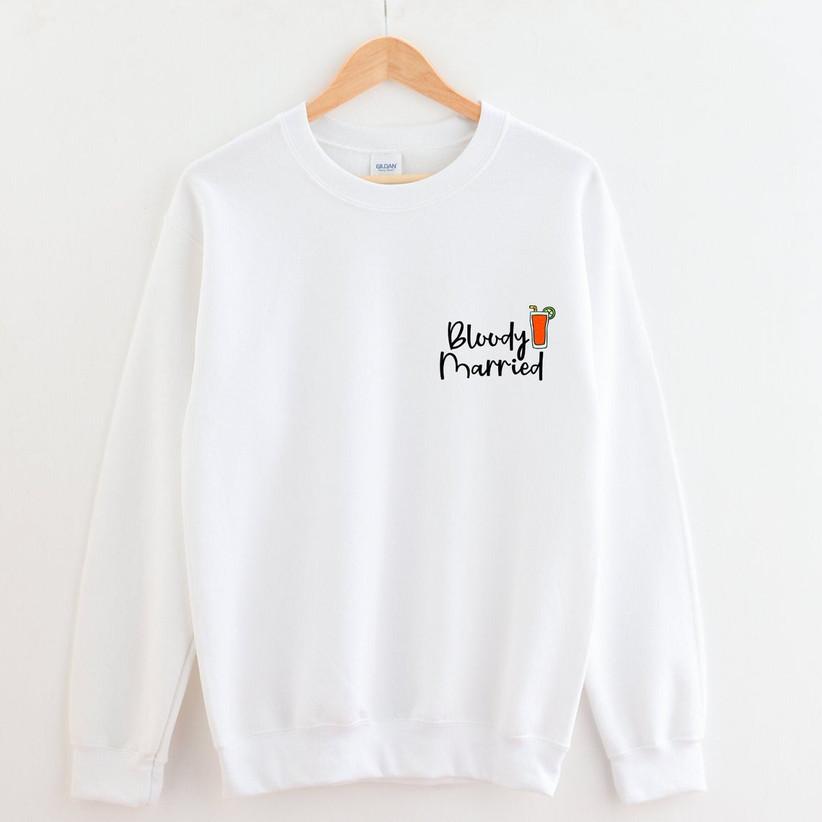 bloody married bride sweatshirt