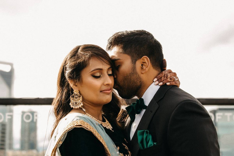candid portrait of south asian couple