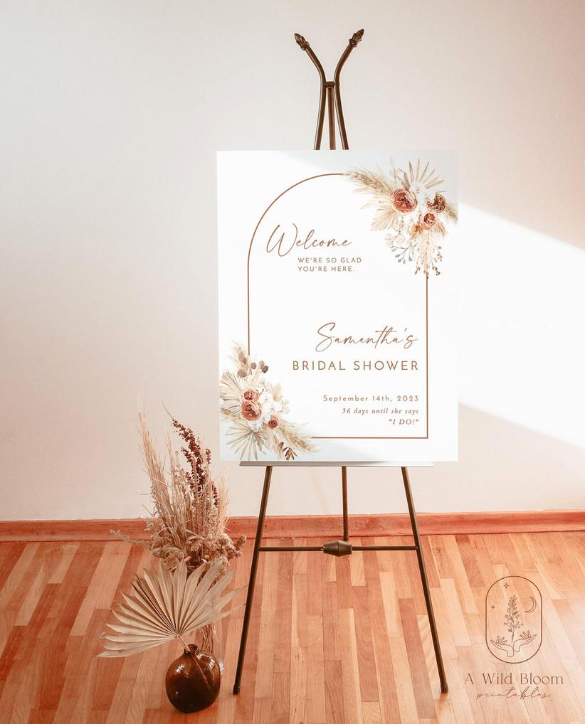 boho bridal shower sign