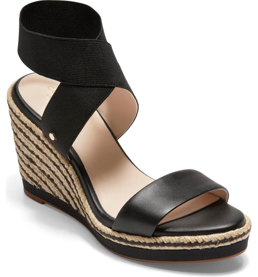 Wedding Guest Shoes black espadrille wedges
