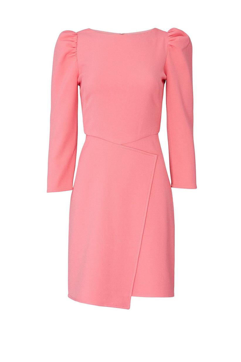 Pink long-sleeve mini dress