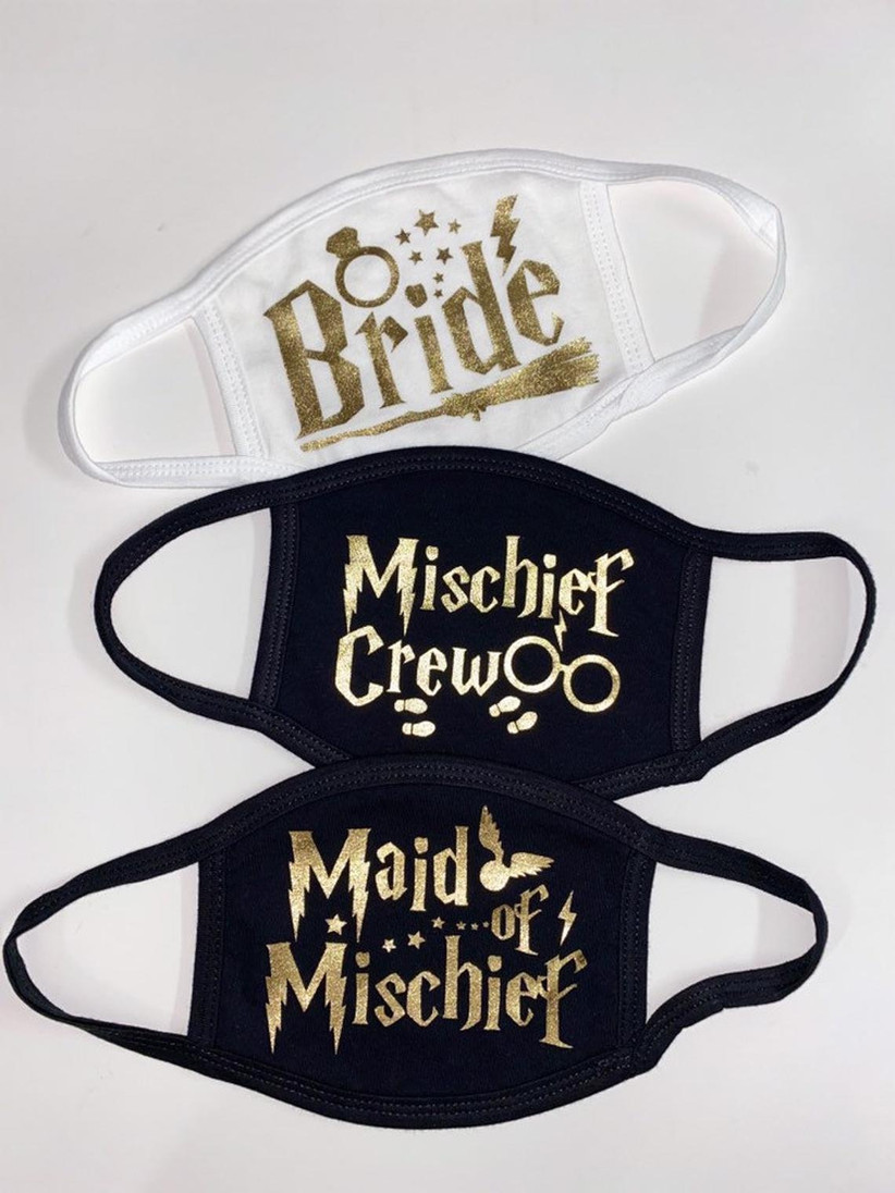 covid face masks for harry potter bachelorette party that say