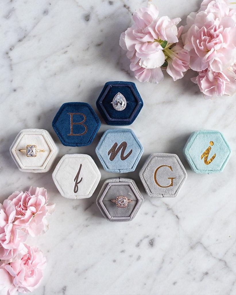 monogram velvet engagement ring box