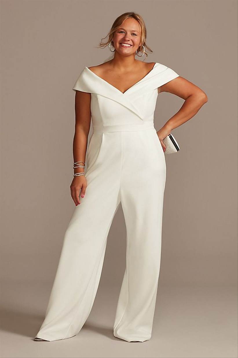 white jumpsuit for courthouse wedding