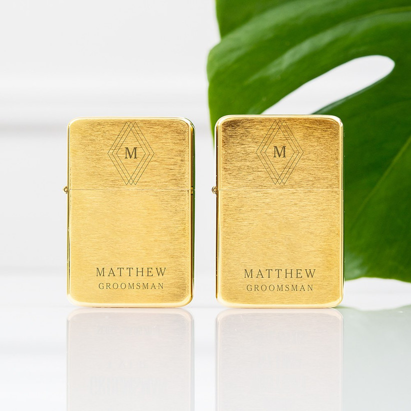 Personalized lighter groomsmen proposal gift