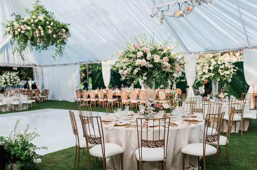 rancho valencia tented wedding reception