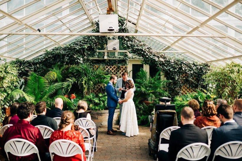 the botanical gardens wedding ceremony