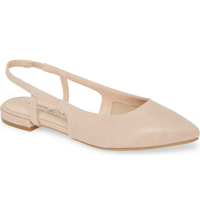 Wedding Guest Shoes nude leather flats