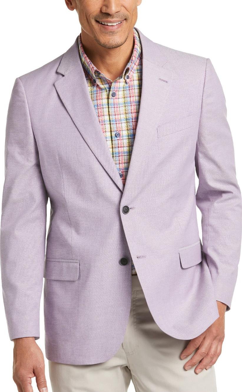 Pastel purple sport coat for summer wedding