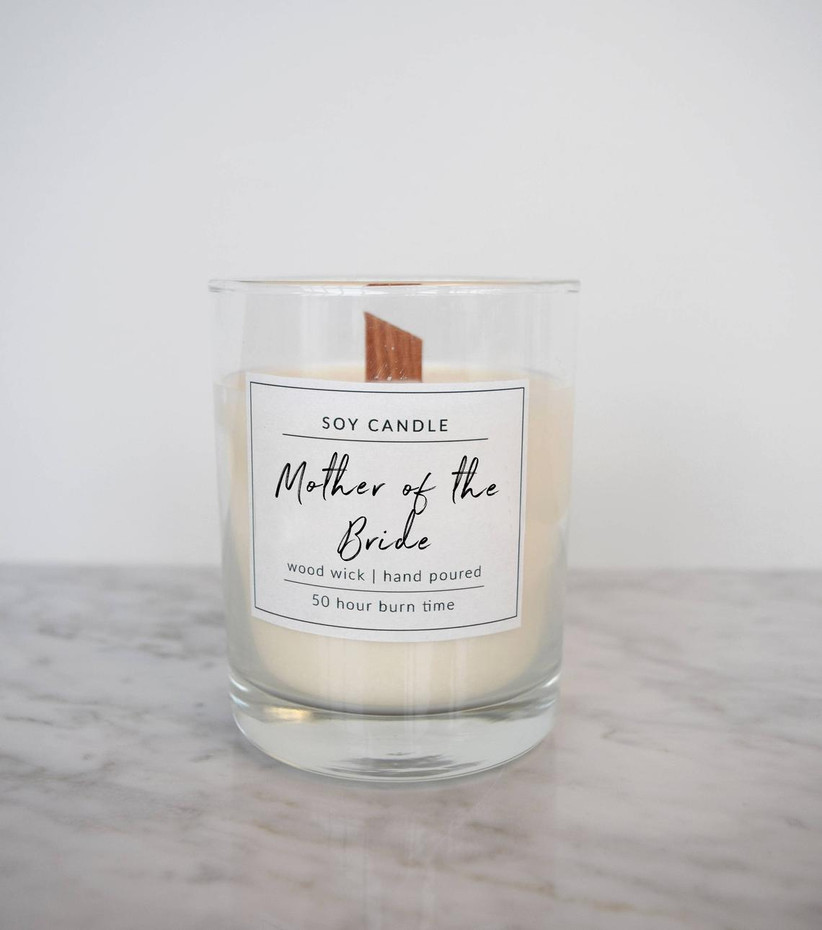 Mother of the Bride vanilla scented candle
