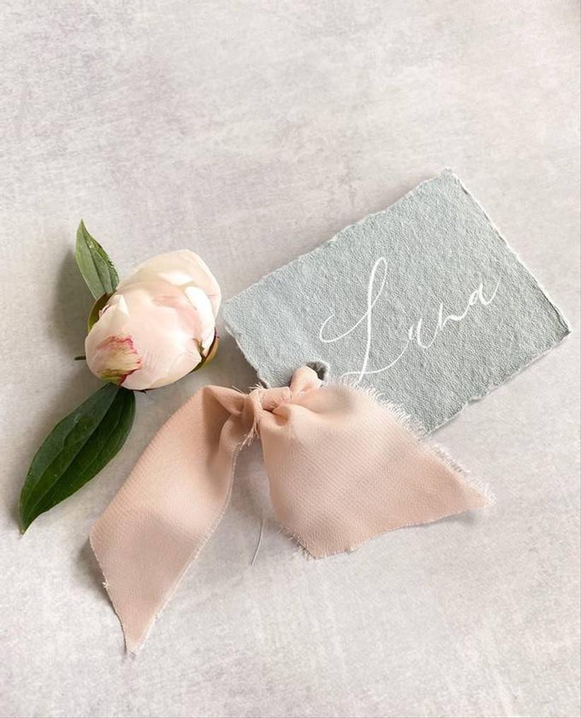 elegant calligraphy wedding place cards
