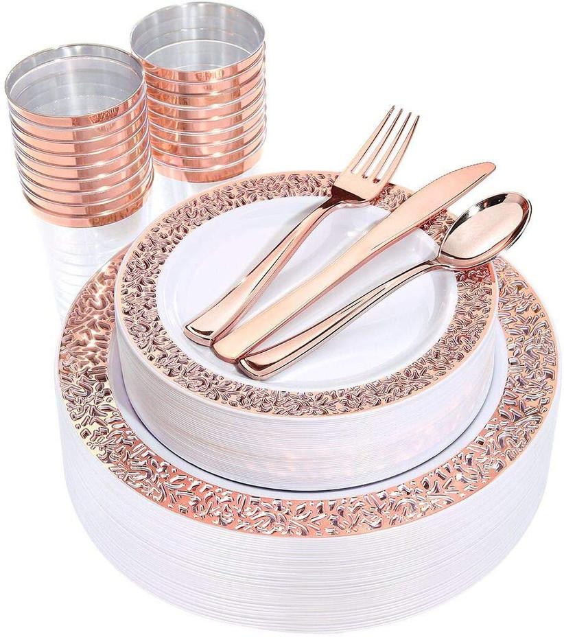 rose gold dinnerware