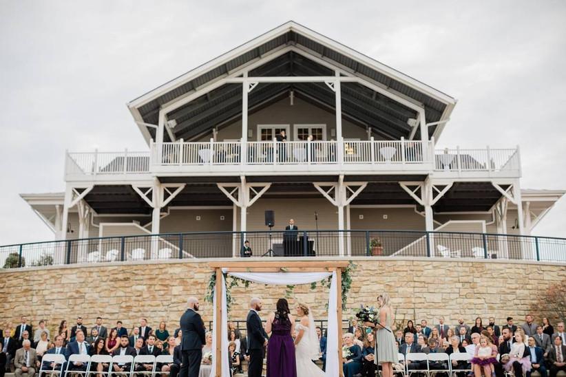 boathouse wedding ceremony