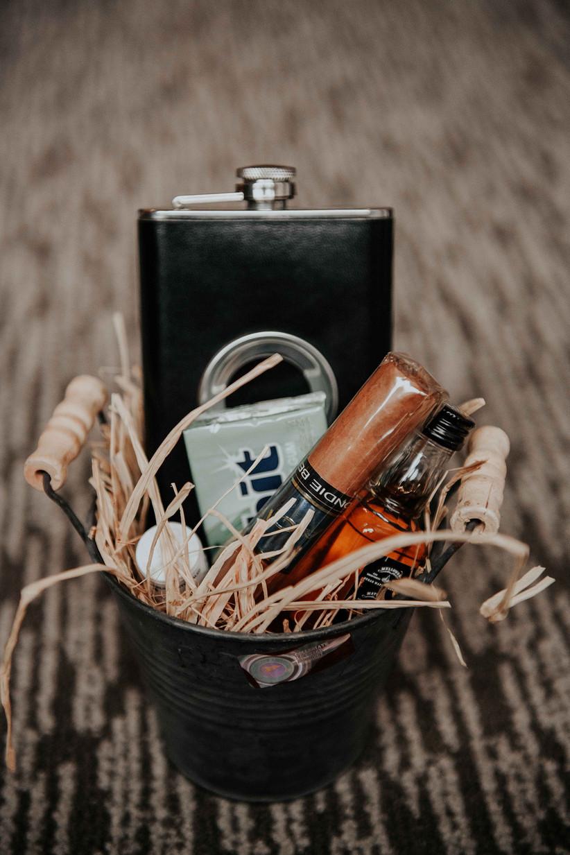 Groomsmen gifts in bucket